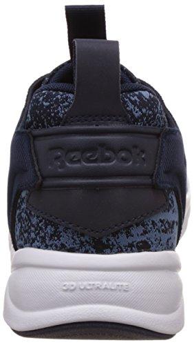 Reebok Furylite Jf, Baskets Basses Homme Multicolore - Mehrfarbig (Blue Slate/Faux Indigo/White)