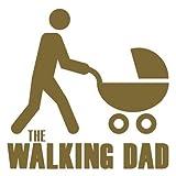 Baby Aufkleber für Auto - Baby Sticker für Mädchen & Jungen - (15cm x 15cm) - Autoaufkleber lustig - Heckscheibenaufkleber - Baby on Board Aufkleber - The walking Dad - von stick-us