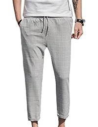 Pantalon À Carreaux pour Automne Hommes Pantalons Printemps Décontractés  Style Simple Pantalons pour Hommes Pantalons De aaa96ee1e130