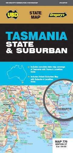 Tasmania State & Suburban Map 770 27th ed (State Map) (Map-tasmanien)