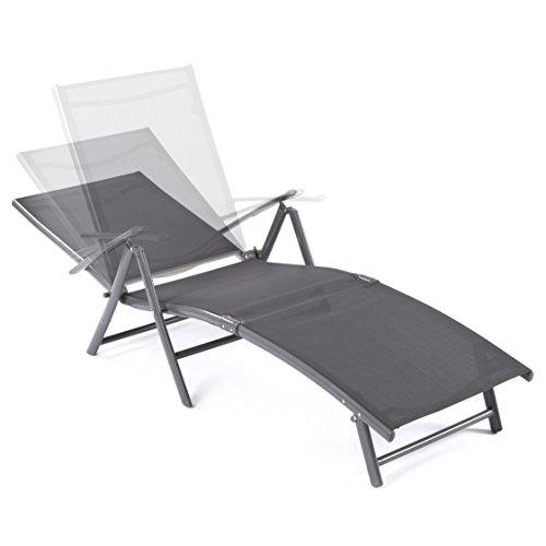 Ultranatura Aluminium Sonnenliege, Korfu Serie - Basic, grau -
