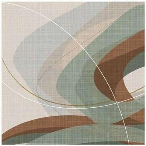 Ahava, motivo increspato, colore: verde con Stampa Giclée su tela in carta e decorazioni disponibili, (Increspato Tela)