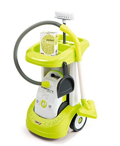 Smoby Rowenta Reinigungs-Trolley Kinder Putzwagen mit Staubsauger Haushaltswagen