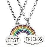 Inception Pro Infinite Collar - dividido en dos piezas - Colgante - Best Friends - Arcobaleno - Mejores Amigos - Amistad - Mamá - Fiesta - Papá - Sorella - Idea regalo fiestas - Joyas