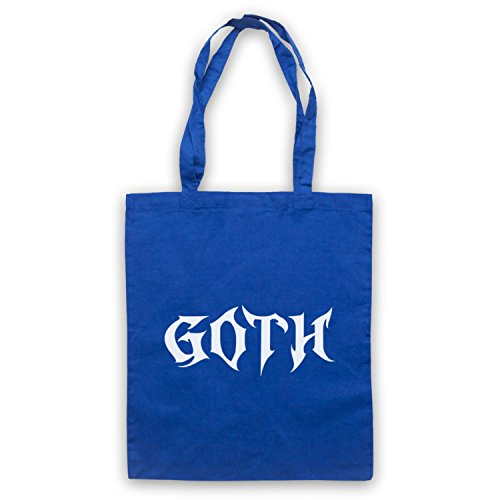 Goth Slogan Style Umhangetaschen Blau