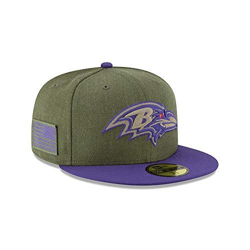 New Era Baltimore Ravens 59fifty Basecap On Field 2018 Salute to Service Green - 7 3/8-59cm - New Ravens Era Cap