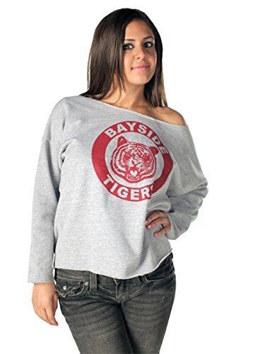 Saved By The Bell Kelly Kapowski Bayside Off The Shoulder grau Junior Sweatshirt (XXl)