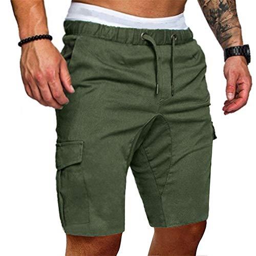 Kinder-sky Blue Camouflage (Beonzale Sommer Herren Jogginghose Hose Cargo Shorts Lässige Elastische Jogginghose Sport Solide Baggy Pockets Bermuda Shorts Kurze Cargo Hose)