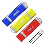 Meinami 3er Pack 8GB USB Stick USB 2.0 Rot, Blau, Gelb