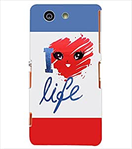 Fuson Multishades Text Back Case Cover for SONY XPERIA Z3 COMPACT - D3899
