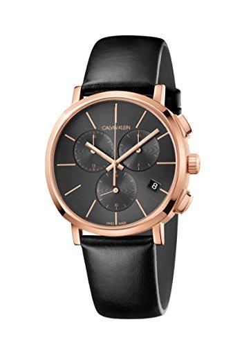 Calvin Klein Reloj Cronógrafo para Hombre de Cuarzo con Correa en Cuero K8Q376C3