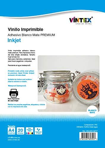 Vinilo adhesivo imprimible Inkjet Blanco Mate VINTEX