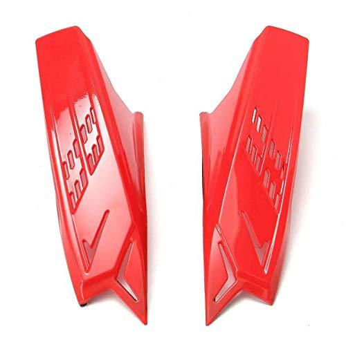 DaFFeng Moto Da Uomo Casco Moto Corni Accessori Giallo Rosso Nero Con Nastri Scotch - Rosso