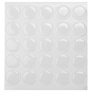 AllBeauty Aufkleber aus Epoxid für Kronkorken / Flaschenverschlüsse, transparent, rund, 2 mm dick, 100 Stück