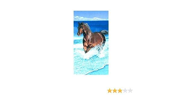 Serviette de plage Cheval Ecume 100/% coton 95 x 175 cm 95 x 175 cm