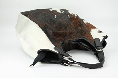 BELLI XXL Voll Fell Leder Shopper HoBo Beuteltasche - 34-48x34(mittig)x14cm (B x H x T) Kuh