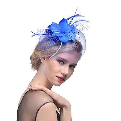 OLADO Melone Blume Haarspange für Frauen Braut Gaze Schleier Federschmuck Mode Hochzeit Headwear