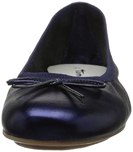 Tamaris 22165, Ballerines Femme Bleu (Navy Metallic 824)