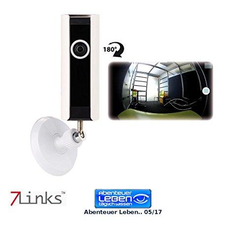 7links LAN Kamera: IP-Panorama-Überwachungskamera, 180° Bildwinkel, Nachtsicht, microSD (Rundum-Überwachungskamera)