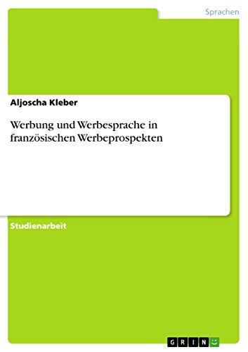 Werbesprache in Werbeanzeigen (German Edition)