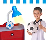 Lampada da scrivania 40W con base pallone da calcio con i colori della tua squadra del cuore. MWS (CELESTE)