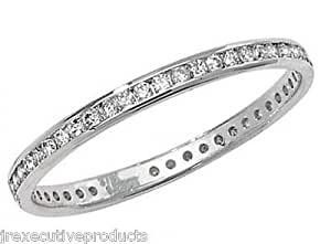 White Gold 0.25ctw Full Eternity Ring (available in sizes G - Z)