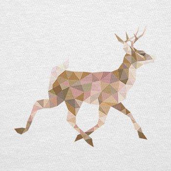 TEXLAB - Poly Deer - Damen T-Shirt Weiß