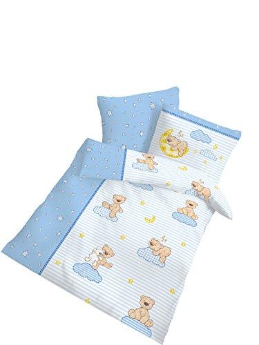 Träumschön Biber Baby Bettwäsche 100x135 cm - 40x60 cm | MADE in GERMANY | Kinderbettwäsche zum wohlfühlen mit Teddy Motiv | 100% Baumwolle | Besonders atumungsaktiv
