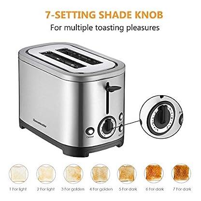 Homeleader-Toaster-mit-2-Brotscheiben-Edelstahl-Doppelschlitz-Toaster-mit-7-Brunungsstufen-abnehmbarer-Krmelschublade-700W-Silver