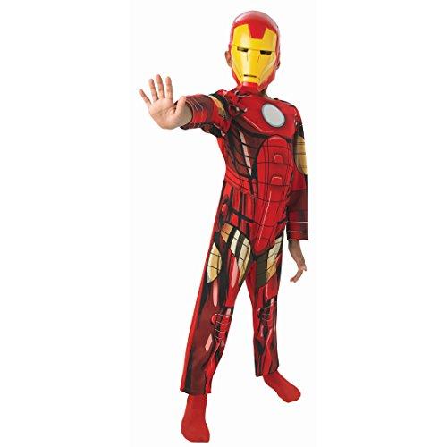 Amakando Superhelden Kinderkostüm Iron Man Kostüm Kinder S 116 cm Heldenkostüm Jungen Ironman Avengers Anzug Faschingskostüm Kind Comic Helden Rüstung