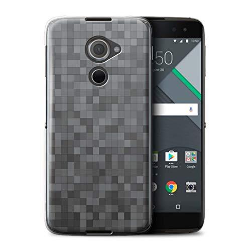 Stuff4® Hülle/Case für BlackBerry DTEK60 / Digitales Grau Muster/Pixelmuster Tarnung Kollektion