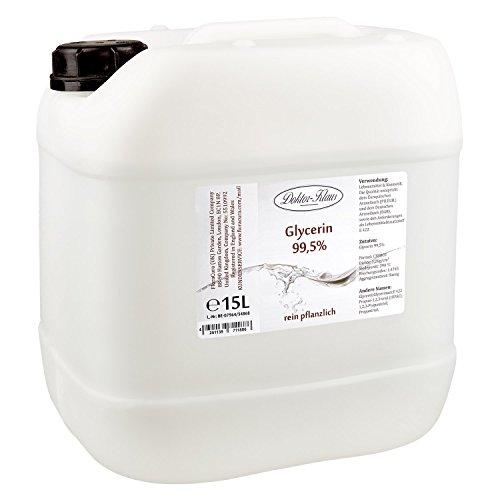 Glycerin 99.5% von Doktor Klaus im 15 Liter HDPE Kanister.