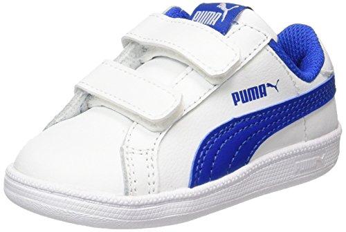 Puma Unisex-Kinder Smash Fun L V Inf Sneaker, Weiß (White-Lapis Blue), 22 EU (Kinder Puma Schuhe)