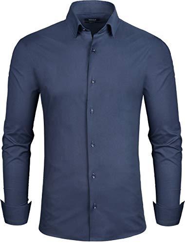 Grin&Bear Herren Hemd, Navy, Modern-Regular, L, SH333 -