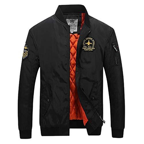 LIMITA Herren Winterjacke Lässige Mode warme Jacke mit Reißverschluss Baseball Jacke Motorradjacke Stehkragen Bomberjacke Outwear Manteloberteile Herren Übergangsjacke