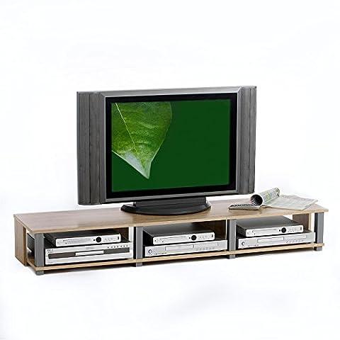 TV-Möbel Lowboard Fernsehtisch TV-Tisch TV-Element KIMI, Sonoma Eiche