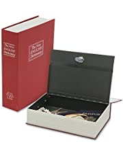 Skywalk Steel 9.5 inch Tall Dictionary Book Safe Hidden Vault with Keys for Home (Colour May Vary)