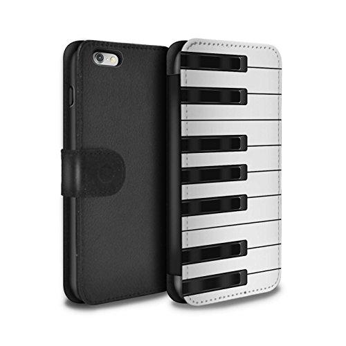 STUFF4 PU-Leder Hülle/Case/Tasche/Cover für Apple iPhone 6S+/Plus / Tastatur Muster / Schaltfläche/Tasten Kollektion Klavier/Piano