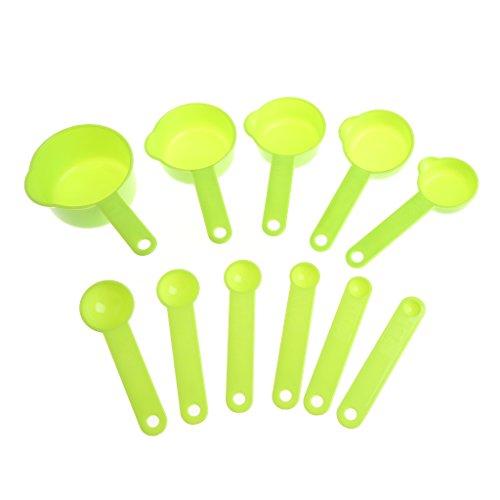 Qiman 11 Teile/Satz Kunststoff Komfortable Grip Messbecher Und Löffel Set Kaffee Scoop DIY Backenwerkzeuge