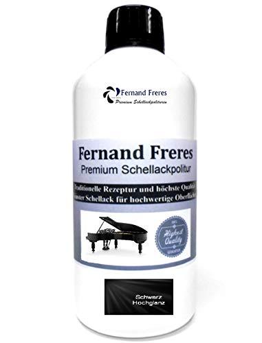Schellackpolitur- Lack SCHWARZ Klavierlack Hochglanz 500ml. Fernand Freres French Politur Schellack gebrauchsfertig Schelllack