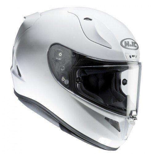 HJC Motorradhelm RPHA 11 Perle, Weiß, Größe XL (Kopf Schweiß Visier)