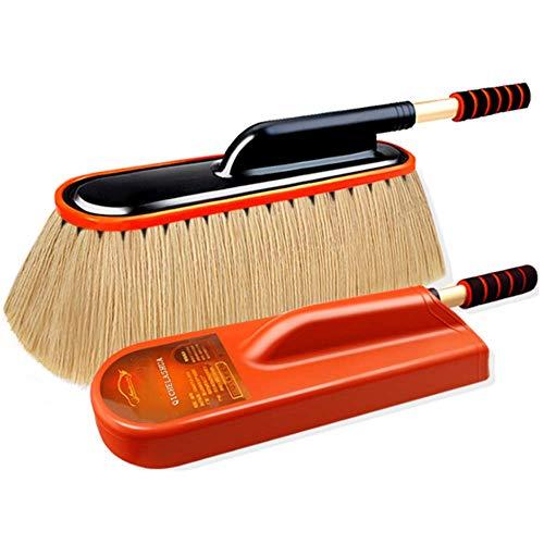 Auto-Reinigungsbürste, weiche Baumwollstaubentfernung, einziehbarer Wischmop mit Staub- und Wachseffekt - keine Farbverletzungen,Beige