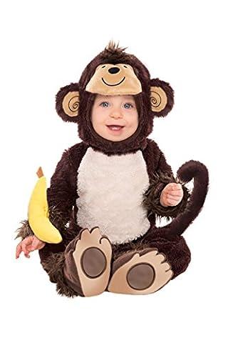 Enfants combinaison déguisement singe - Taille bébé - 12-18 Mois, Polyester