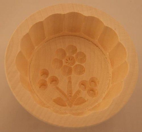 Hofmeister Holzwaren Beurrier Rond 6x8 cm pour 60 g avec Motif (Fleur C)