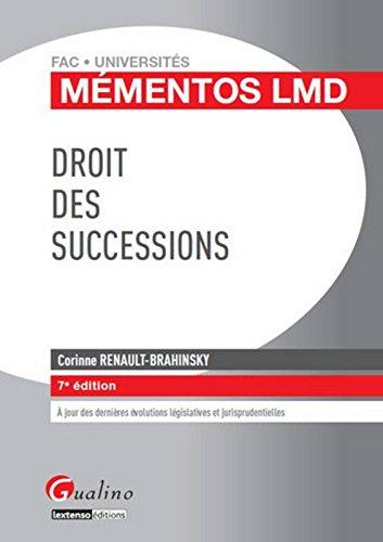 Mémentos LMD Droit des successions, 7ème édition
