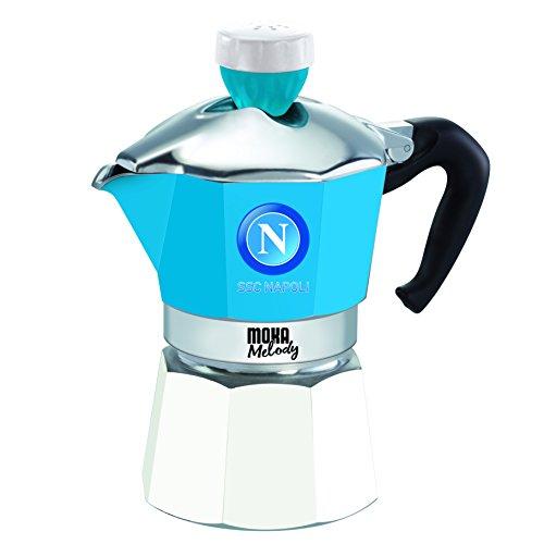 Bialetti Moka Melody - Cafetera (Estufa, Independiente, Aluminio, Azul, De café molido, Manual, Café)