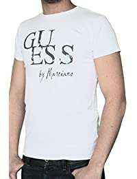 T-shirt GUESS homme manches courtes blanc