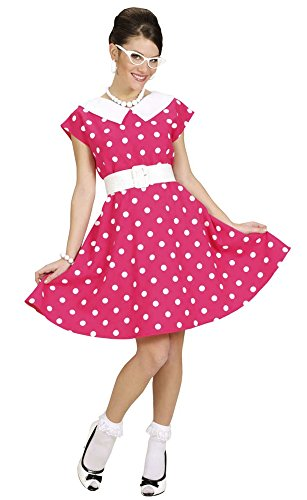 Fifties Petticoat Kleid Pink Damen Gr. S 34 36 (Süßes 50er Jahre Kostüme)