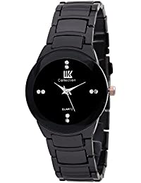 Goldenize Fashion New Arrival Special Collection New Arrival Festive Season Special Analog Black Dial Black Stainless...