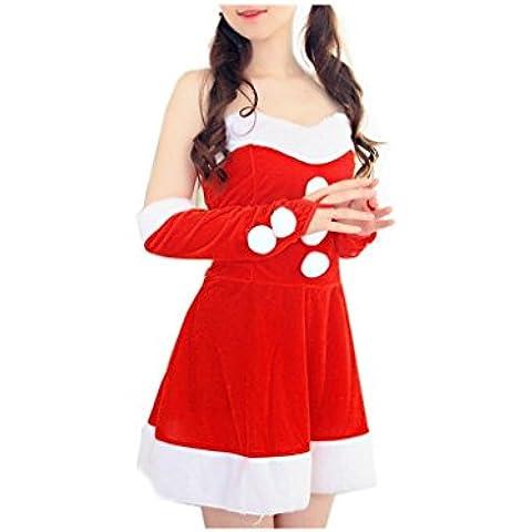 Koly_Costume Lady Babbo Natale vestito operato di Natale Ufficio partito Outfit
